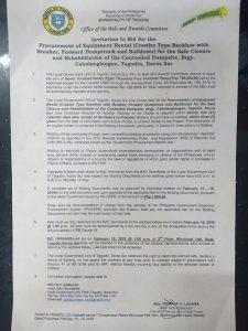 ITB procurement of Equipment Rental (Crawler Type Backhoe) Page 1